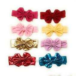 Baby Headband Baby Girl Headband Headwrap Pink Gold Bows Red