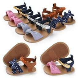 Baby Infant Girl Soft Sole Crib Shoes Toddler Summer Sandals