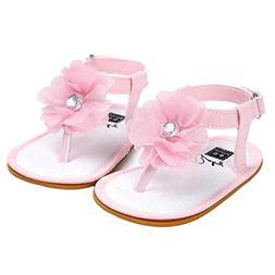 Voberry Baby Infant Girls Flower Pearl Princess Sandals Soft