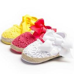 Baby Infant Kids Girl Summer Soft Sole Crib Toddler Shoes An