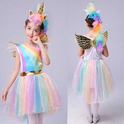 baby kids girls unicorn party cosplay costume