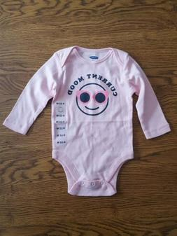 Old Navy Baby L/S Bodysuit 6-12 Months NWT Girls Current Moo