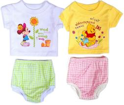 Disney Baby Newborn Girl Tee Shirt Diaper Cover Gift Set Inf