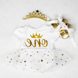 Baby Rompers Infant Clothing Glitter One Girls Love Dress Ju