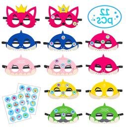 Baby Shark Mask for Party 12 pcs Combo Kids Girls Boys Set B