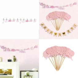 Baby Shower Decorations For Girl IT's A GIRL Banner 20 Pcs P
