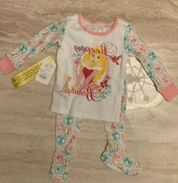 Disney Baby Sleeping Beauty Footed 2 Piece Pajamas Baby Girl