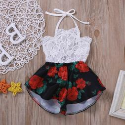 Baby Summer Rompers Newborn Baby Girl Clothes Sleeveless Lac
