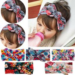 Baby Toddler Girls Kids Bunny Rabbit Bow Knot Turban Headban