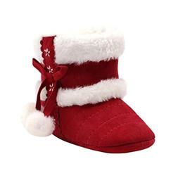 Voberry Baby Toddler Girls Knit Soft Winter Warm Snow Boot F