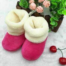Babys Girls Boys Booties Slippers Infant Soft Snow Boots War