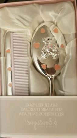 Beautiful Baby Girl Silver Brush/Comb Set - New in Gift Box!
