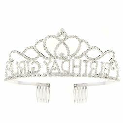 birthday girl tiara party crown silver accessories