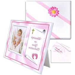 Blessings Dedication Gift for Baby Girls Picture Frame | Aff