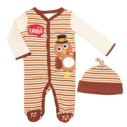 Baby Essentials Boy/Girl Thanksgiving Turkey One Piece Footi