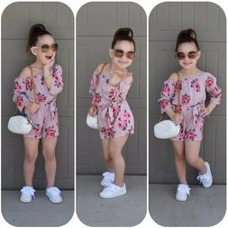 Pudcoco Brand New Kids Baby Girl Romper Floral Romper Sunsui