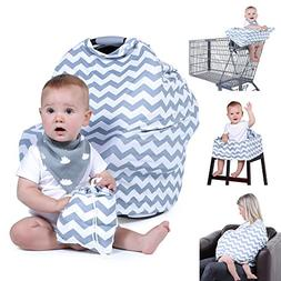 Natural Baby Stuff Infant Car Seat Cover for Boys Girls - Br