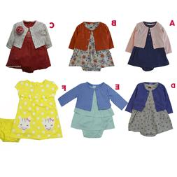 Carter's baby girls 2 pc dress cardigan clothing outfit size