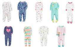 Carter's Baby Girls One Piece Pajama Footie Printed New