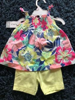 Carter's Baby Girl 2 Piece Outfit Summer 9 Months NWT