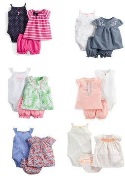 Carters Baby Girl Clothes Summer Outfit 3-Piece Set 3 6 9 12