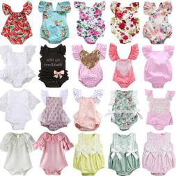 Casual Toddler Baby Girl Romper Jumpsuit Bodysuit Summer Sun