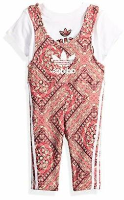 adidas Originals CE4384 Baby Girls Graphic Jumpsuit 18M- Cho