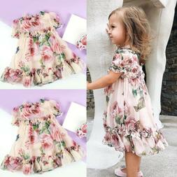 Chiffon Toddler Kid Baby Girl Princess Flowers Party Tutu Tu