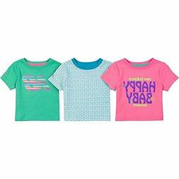 New Balance Childrens Apparel Baby Girls 3 Pack Graphic Tees