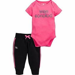 New Balance Childrens Apparel Baby Girls Bodysuit and Jogger