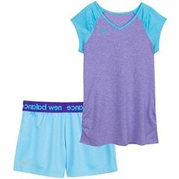 New Balance Childrens Apparel Little Girls Performance Tee a