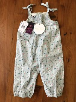 Chloe Baby Girls One Piece Romper Blue Floral Size 9M NWT