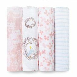 aden + anais Swaddle Baby Blanket, 100% Cotton Muslin, Large