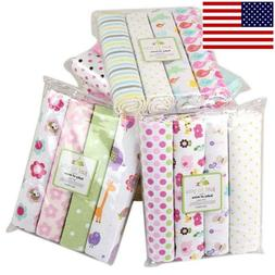 Cotton Baby Blanket Newborn Swaddles Bed Sheet Baby Crib Bed