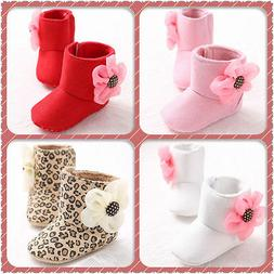 Cute Baby Girl Shoes Winter Warm Toddler Soft Sole Snow Boot