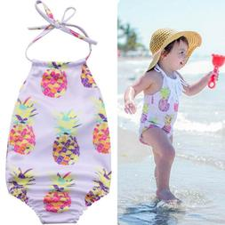 Cute Baby Girl Swimwear Swimsuit Bikini Bathing Suit 1-piece