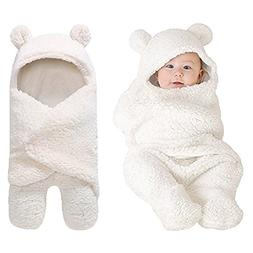 Newborn Baby Boy Girl Cute Cotton Plush Receiving Blanket Sl