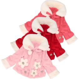 Cute Kid Toddler Baby Girls Bowknot Floral Kid Winter warm C
