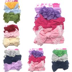 Cute Kids Girl Baby Headband Infant Newborn Flower Bow Hair