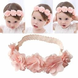 Cute Lace Flower Kids Baby Girl Toddler Headband Hair Band H