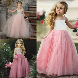 Cute Toddler Kids Baby Girls Flowers Party Pageant Lace Tutu