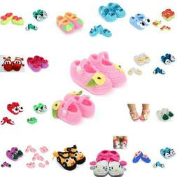 Cute Rose Knit Baby Boys Barefoot Sandals Shoes Summer Gifts