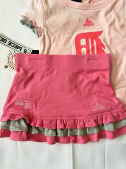 Adidas Detroit Tigers Pink Two Piece Baby Girl Outfit New Wi