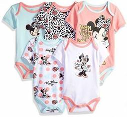 Disney Baby Girls Minnie Mouse 5 Pack Bodysuits Size 12M 18M