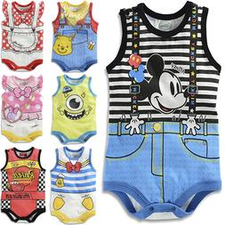 Baby Newborn Boys Girls Lovely Cartoon Bodysuits Jumpsuit Ro