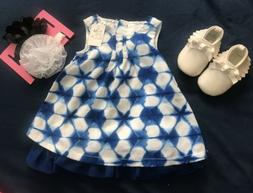 Dress and Shoes for Baby Girl 0-3 Months, 2 Pack Headwraps.