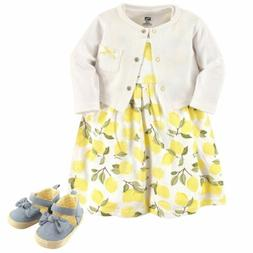 Dress, Cardigan and Shoes, 3-Piece Set, Lemons
