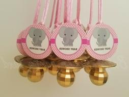Elephant Pacifier Necklaces Baby Shower Game Favor 12 PINK G