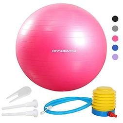 GYMBOPRO Exercise Ball Load 2000lbs Anti Burst 65cm Birthing