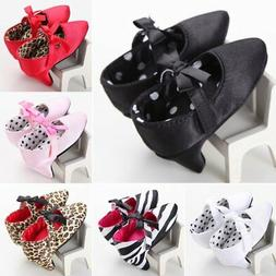 Fashion Baby Girl Bowknot Shoes Princess Crib Shoes High Hee